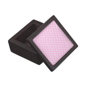 Pretty Pink Polka Dots Premium Trinket Box