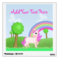 Pretty Pink Pony Horse in a Field Wall Decal