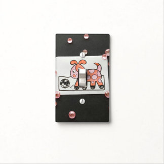 PRETTY PINK POOCH SINGLE TOGGLE SWITCH SWITCH PLATE COVER