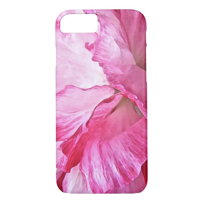 Pretty Pink Poppy Abstract iPhone 8/7 Case