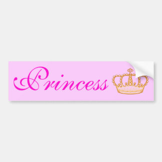 Pretty Pink Princess Bumperr Sticker Car Bumper Sticker