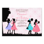 Pretty Pink Princess  Fairy Birthday Party Custom Announcement