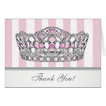 Pretty Pink Princess Thank You Card Note Card