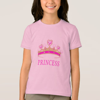 Pretty Pink Princess Tiara Crown with Pearls T-Shirt