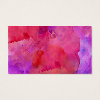 Pretty Pink, Purple, and Red Watercolor Paint Business Card