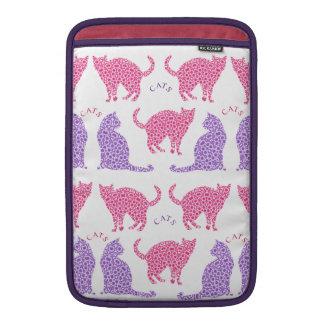 Pretty Pink Purple Cat Lovers Design MacBook Sleeve