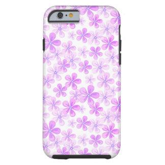 Pretty Pink & Purple Daisies Tough iPhone 6 Case