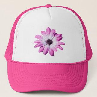 Pretty pink, purple daisy flower hat, cap, gift trucker hat