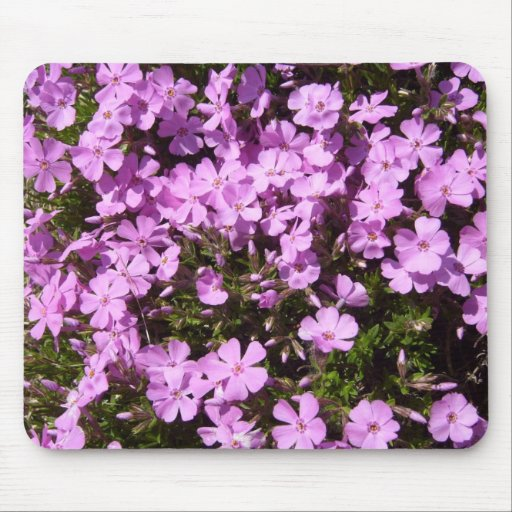 Pretty Pink/Purple Flowers Mouse Mat