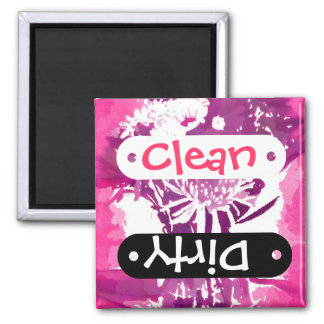Pretty Pink Purple Girly Flower Pop Art 2 Inch Square Magnet