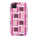 Pretty Pink Purple Patchwork Quilt Design Gifts iPhone 4/4S Covers
