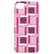Pretty Pink Purple Patchwork Quilt Design Gifts iPhone 5 Covers