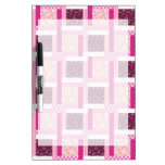 Pretty Pink Purple Patchwork Quilt Design Gifts Dry-Erase Whiteboard