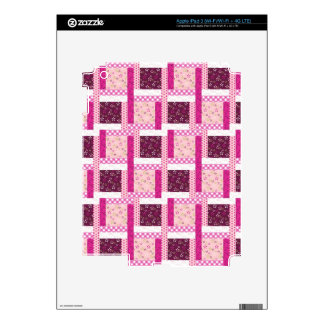 Pretty Pink Purple Patchwork Quilt Design Gifts iPad 3 Skins