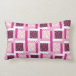 Pretty Pink Purple Patchwork Quilt Design Gifts Throw Pillow