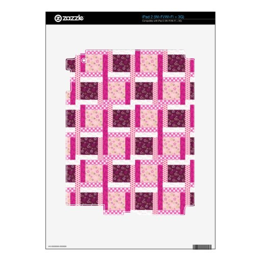 Pretty Pink Purple Patchwork Quilt Design Gifts Decal For iPad 2