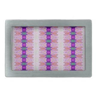 pretty pink purple ribbon pattern belt buckles