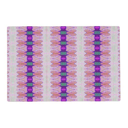 Ptm Images 12 In X 12 In The Color Purple Laminated: Pretty Pink Purple Ribbons Placemat