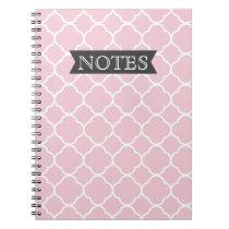 Pretty Pink Quatrefoil Notebook