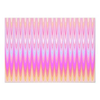 Pretty Pink Rainbow Ridges Custom Invitation