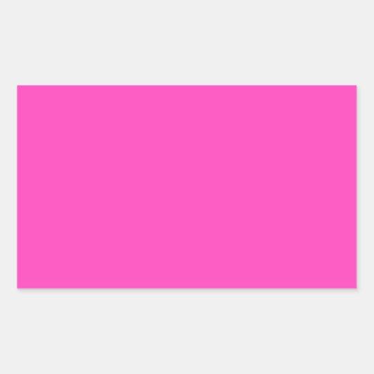 Pretty Pink Rectangular Sticker