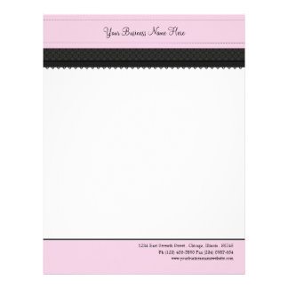 Pretty Pink Ribbon Business Letterhead