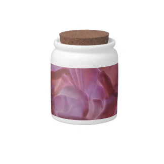 Pretty pink rose and its meaning candy jar