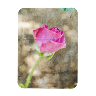 Pretty Pink Rose Bud Magnet