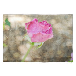 Pretty Pink Rose Bud Placemat