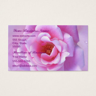 Pretty Pink Rose Business Card