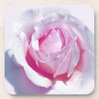 Pretty Pink Rose Drink Coaster
