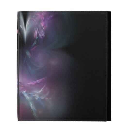 Pretty Pink Rose Fractal iPad Folio Cover