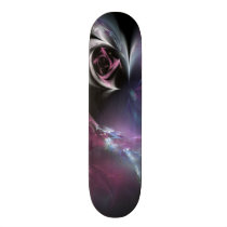 Pretty Pink Rose Fractal Skateboard Deck