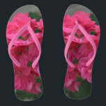 """Pretty Pink Rose Geranium Flip Flops<br><div class=""""desc"""">Pretty Rose Geranium Women's pink floral nature Flip Flops. Perfect for anyone who loves flowers and nature. Shown with Pink Slim Straps and White Footbed. Nice gift for wedding party for beach destination weddings, or for summertime fun at the beach, vacation or anytime. See options for Wide Straps. Original Photography...</div>"""