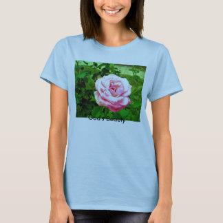 Pretty Pink Rose, God's Beauty T-Shirt