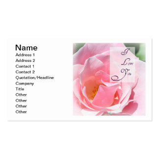 Pretty Pink  Rose I Love You Customizable Card