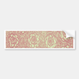 Pretty Pink Rose Pattern Bumper Sticker