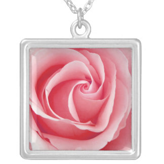 Pretty Pink Rose Pendant Necklace