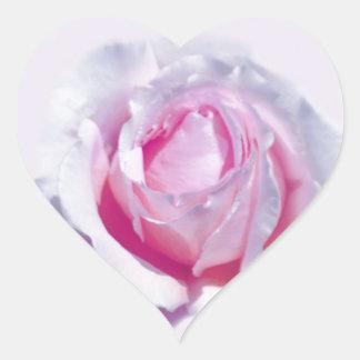 Pretty Pink Rose Heart Sticker