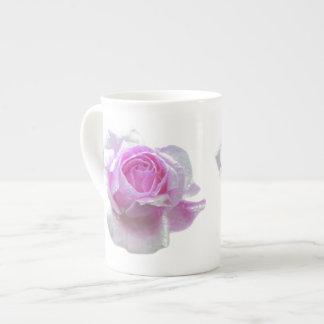 Pretty pink rose tea cup