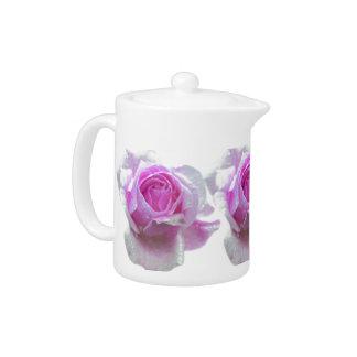 Pretty pink rose teapot
