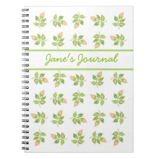 Pretty Pink Rosebud Spiral Notebook