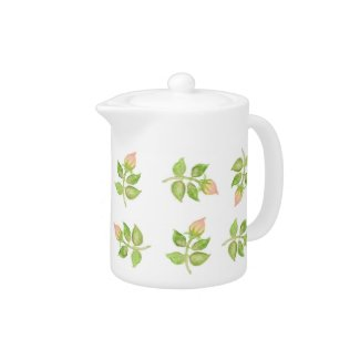 Pretty Pink Rosebud Tea Pot