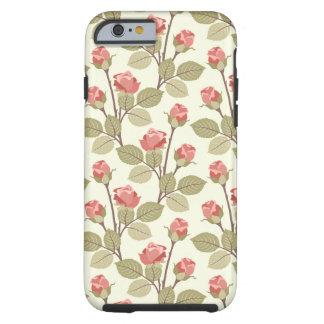Pretty Pink Rosebuds Tough iPhone 6 Case