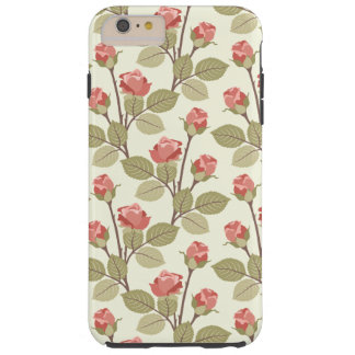 Pretty Pink Rosebuds Tough iPhone 6 Plus Case