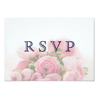 Pretty Pink Roses Bouquet RSVP Card