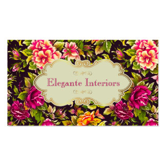 Pretty Pink Roses Floral Business Card