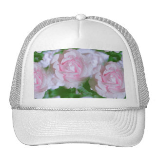 Pretty Pink Roses Floral Trucker Hat