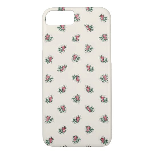 Pretty Pink Roses Girly Vintage Wallpaper Pattern Case Mate Iphone Case