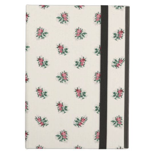 Pretty Pink Roses Girly Vintage Wallpaper Pattern Ipad Air Cover